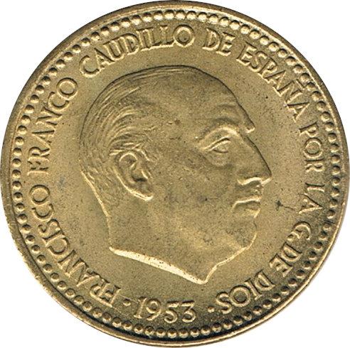 ESPAÑA. FRANCISCO FRANCO. 1 PESETA 1.953 *56
