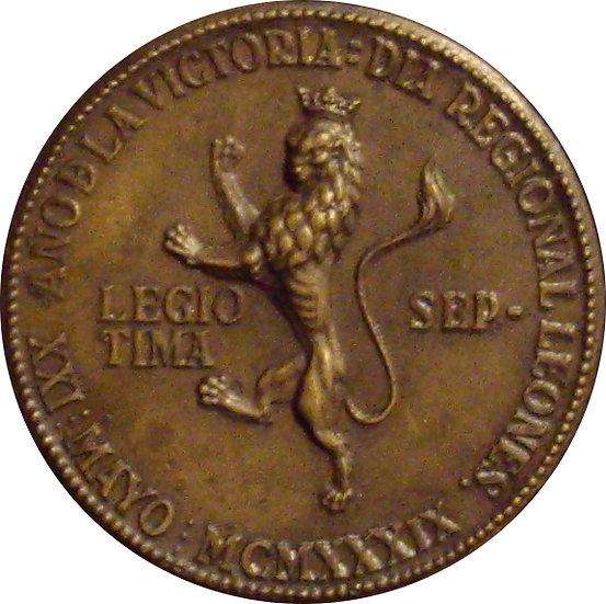 AÑO DE LA VICTORIA. MEDALLA DÍA REGIONAL LEONÉS  1.939