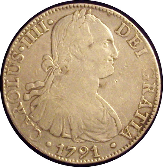 ESPAÑA. CARLOS IV. 8 REALES 1.791 MÉXICO