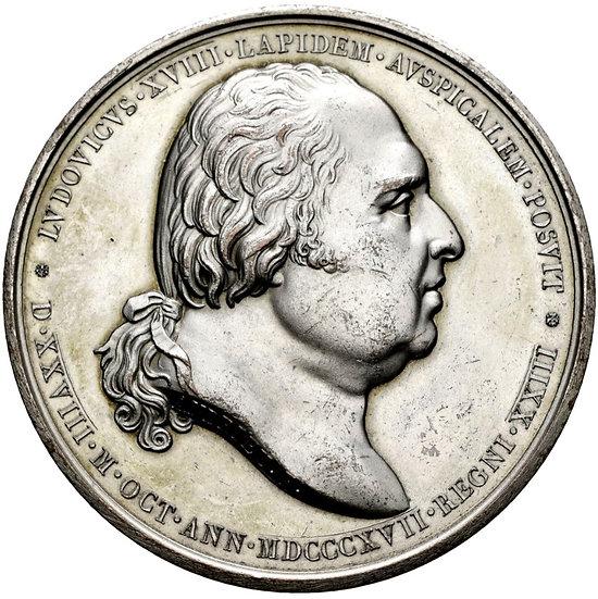 FRANCIA. LUIS XVIII. MEDALLA RESTAURACIÓN ESTATUA ENRIQUE IV. 1.817