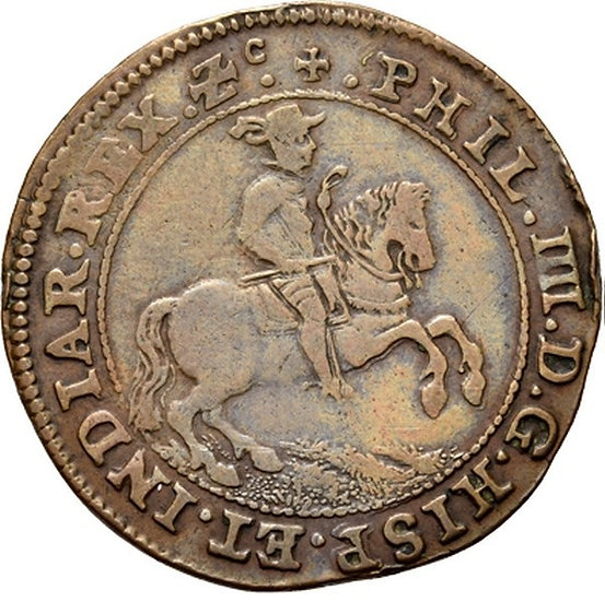 ESPAÑA. FELIPE IV. PAÍSES BAJOS. JETÓN. BRUSELAS. 1.651