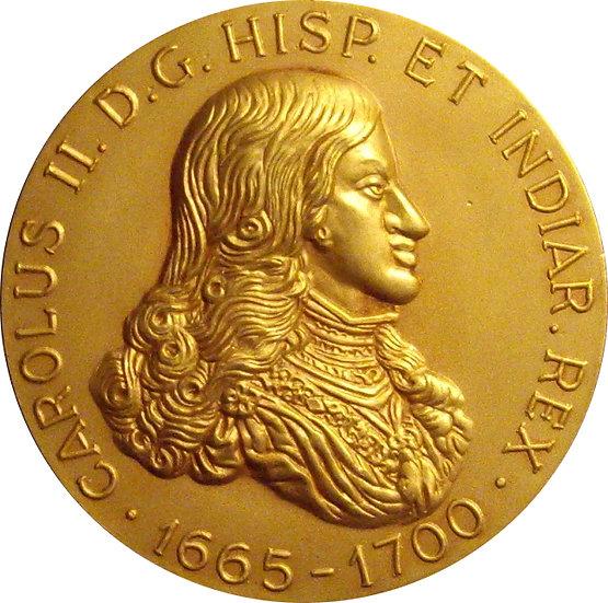 ESPAÑA. MEDALLA CARLOS II (1665 - 1700). BARCELONA 1.965
