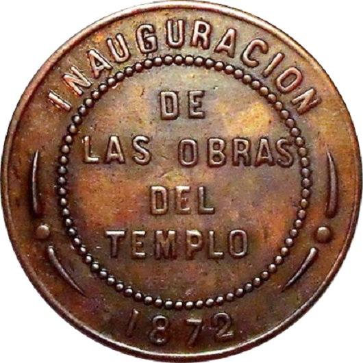 ESPAÑA. MEDALLA INAUGURACIÓN OBRAS DEL TEMPLO. ZARAGOZA 1.872