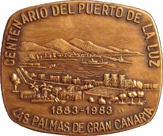 ESPAÑA. MEDALLA CENTENARIO DEL PUERTO DE LA LUZ 1.983
