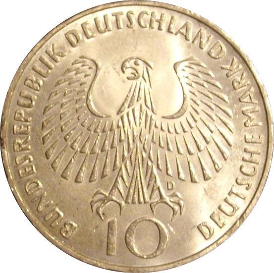 ALEMANIA. 10 MARCOS JUEGOS OLÍMPICOS DE MUNICH. 1.972