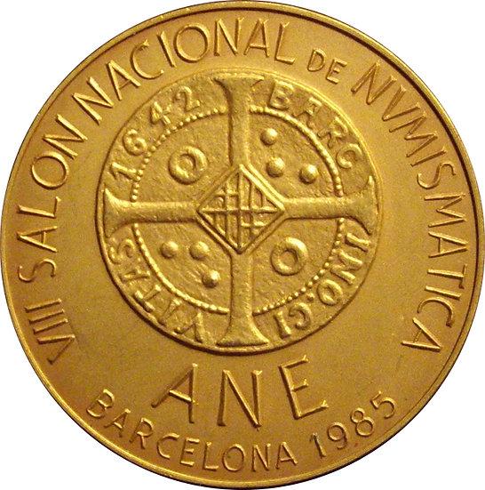 ESPAÑA. MEDALLA VIII SALÓN NACIONAL DE NUMISMÁTICA. BARCELONA 1.985