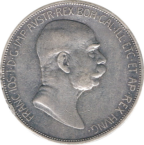 AUSTRIA. 5 CORONAS. 1.908