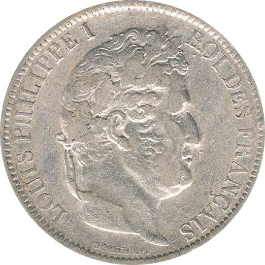 FRANCIA. LUIS FELIPE I, 5 FRANCOS 1.831 PARÍS