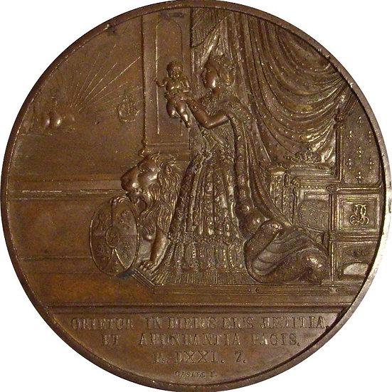 ISABEL II.  NACIMIENTO DE ALFONSO XII. 1857