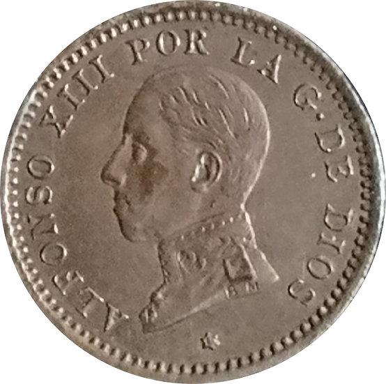 ESPAÑA. ALFONSO XIII.  2 CÉNTIMOS 1912*12 PC-V