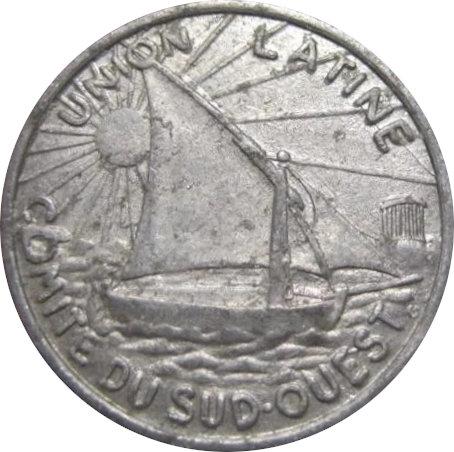 FRANCIA. UNIÓN LATINA. COMITÉ DEL SUDOESTE. 10 CÉNTIMOS. 1922-1930