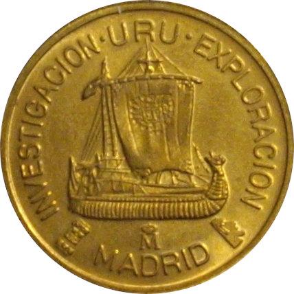 ESPAÑA. MEDALLA F.N.M.T. EXPEDICIÓN URU. 1.991