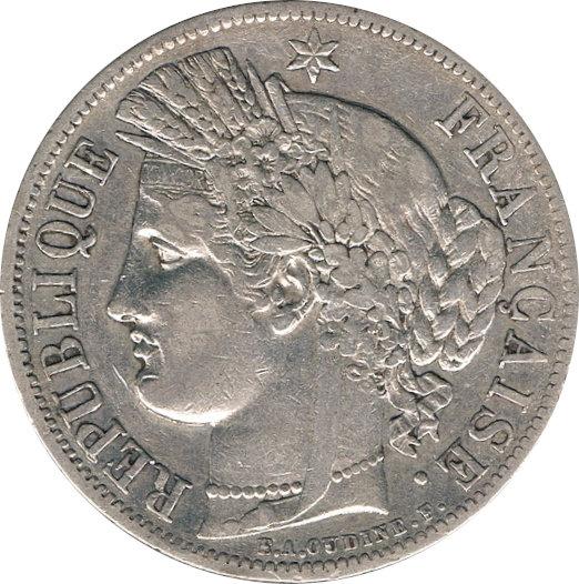 FRANCIA. 5 FRANCOS 1.850 PARÍS