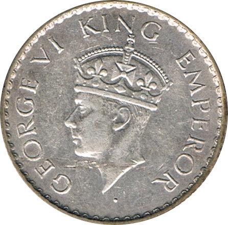 INDIA. JORGE VI. 1/4 RUPIA 1.940