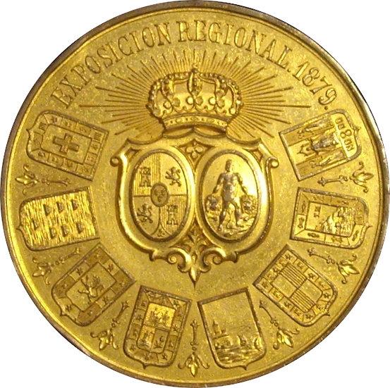 MEDALLA EXPOSICIÓN REGIONAL DE CÁDIZ 1.879