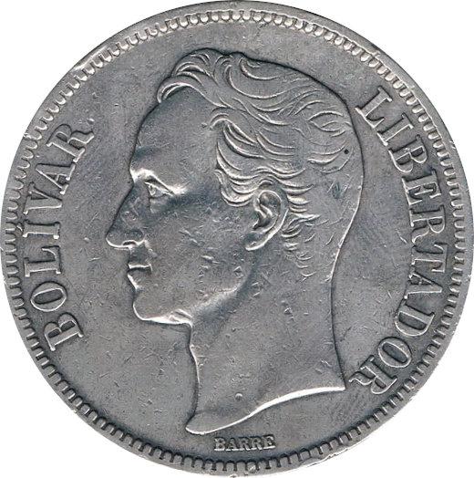 VENEZUELA. 5 BOLÍVARES 1.924