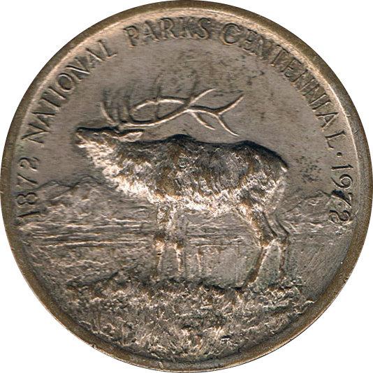 USA. MEDALLA CENTENARIO DE LOS PARQUES NACIONALES. 1.972