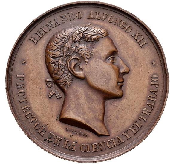 ESPAÑA. ALFONSO XII. MEDALLA EXPOSICIÓN REGIONAL DE LUGO. 1.877
