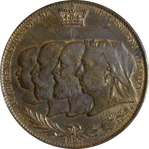 INGLATERRA. MEDALLA JUBILEO 60 ANIV. REINA VICTORIA. 1.897