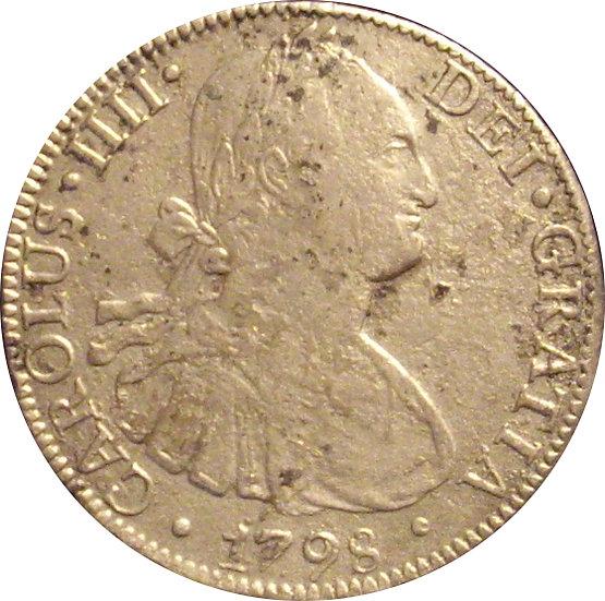 ESPAÑA. CARLOS IV. 8 REALES 1.798 MÉXICO