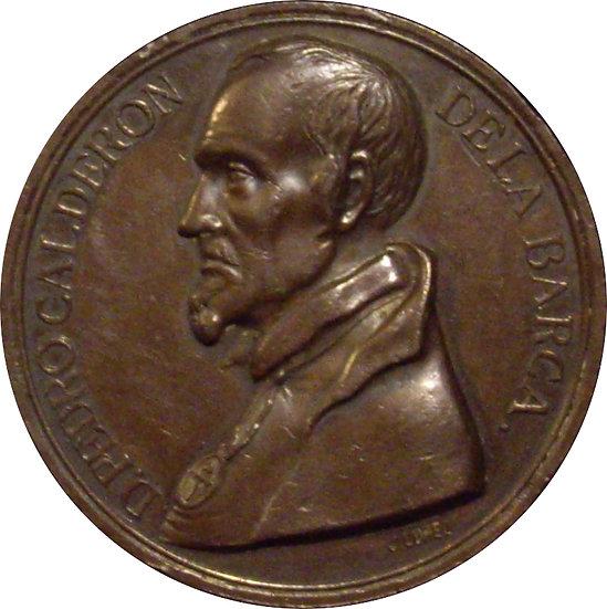 ESPAÑA. MEDALLA 2º CENTENARIO MUERTE CALDERÓN DE LA BARCA. 1881