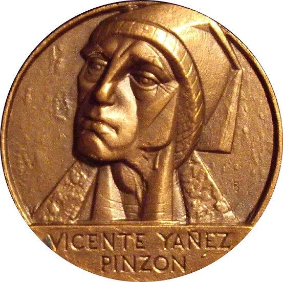 ESPAÑA. MEDALLA F.N.M.T. VICENTE YAÑEZ PINZON. 1.985