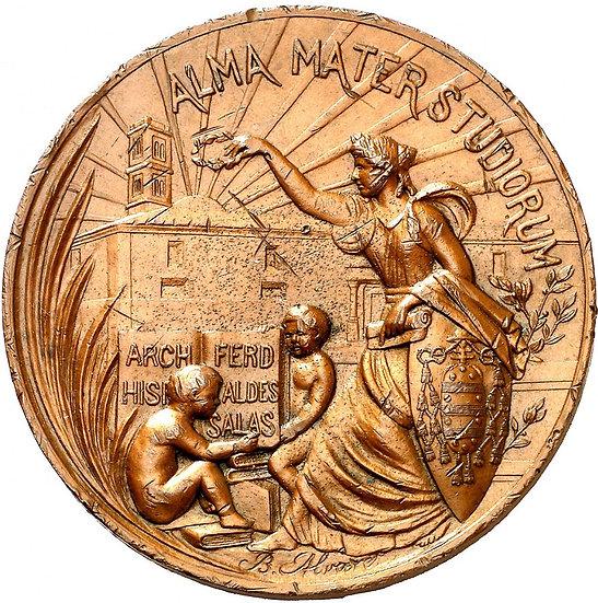 ESPAÑA. ALFONSO XIII. MEDALLA III CENTENARIO UNIVERSIDAD OVIEDO. 1.908