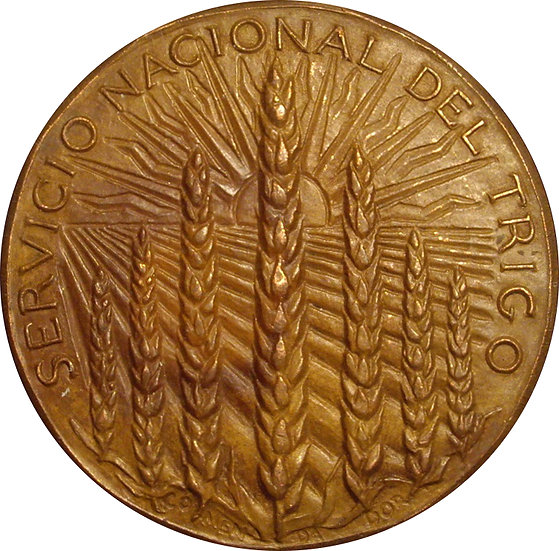 ESPAÑA. MEDALLA XXV ANIVERSARIO SERVICIO NACIONAL DEL TRIGO. 1.962