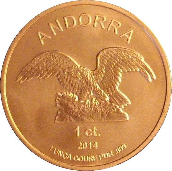 ANDORRA. 1 ONZA DE COBRE. 2.014