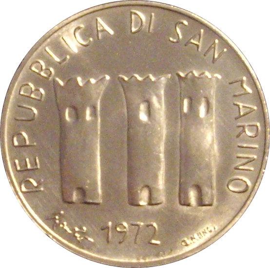 SAN MARINO. 500 LIRAS. 1.972