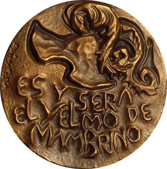 ESPAÑA. MEDALLA F.N.M.T. QUIJOTE. YELMO DE MAMBRINO. 1.969
