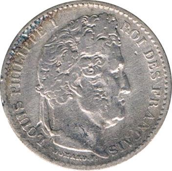 FRANCIA. LUIS FELIPE I, 25 CÉNTIMOS 1.846 PARÍS