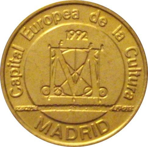 ESPAÑA. MEDALLA MADRID CAPITAL EUROPEA DE LA CULTURA. 1.992
