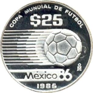 MÉXICO. 25 PESOS. 1.985