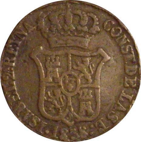 ESPAÑA. ISABEL II. 6 CUARTOS 1.838 BARCELONA