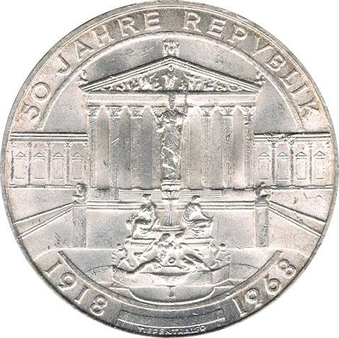 AUSTRIA 50 SCHILLING. 1.968