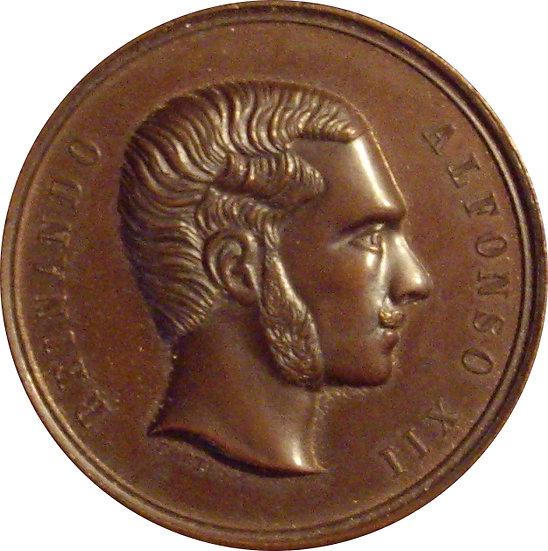 ESPAÑA. ALFONSO XII. EXPOSICIÓN NACIONAL VINICOLA DE 1.877. MENCIÓN