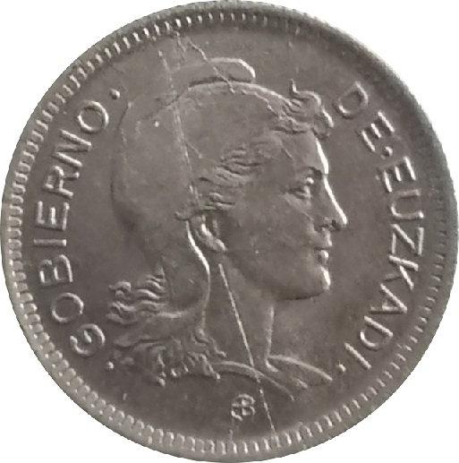 ESPAÑA. GUERRA CIVIL. GOBIERNO DE EUZKADI. 1 PESETA. 1.937