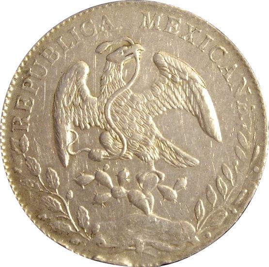 MÉXICO. 8 REALES. 1.890 (MR) SAN LUIS POTOSÍ