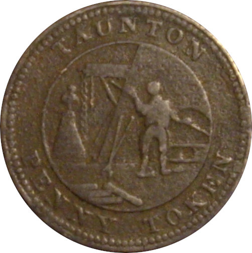 INGLATERRA. 1 PENNY TOKEN. MESSRS COX´S IRON FOUNDRY