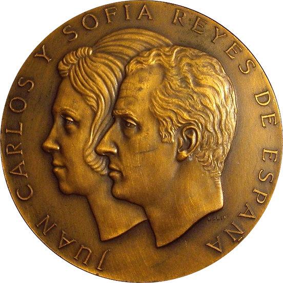 ESPAÑA. MEDALLA F.N.M.T. PROCLAMACIÓN JUAN CARLOS Y SOFIA. 1.975