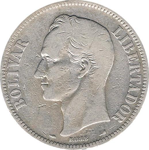 VENEZUELA. 5 BOLÍVARES 1.900