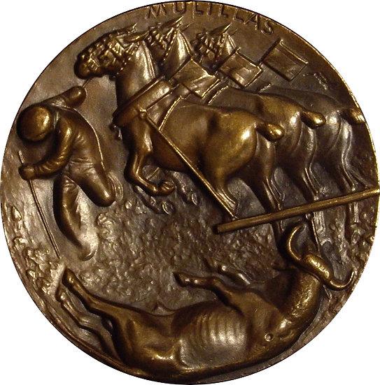 ESPAÑA. MEDALLA F.N.M.T. TAUROMAQUIA -MULILLAS-. 1.963