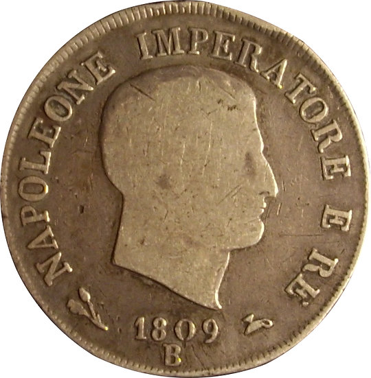 NAPOLEÓN BONAPARTE  5 LIRAS  1.809  BOLONIA