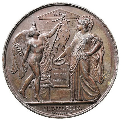 FRANCIA. MEDALLA RAYMOND CONDE DE SEZE. 1.829