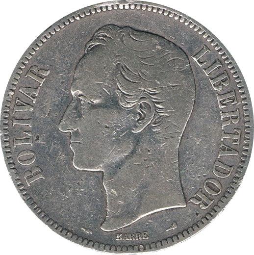 VENEZUELA. 5 BOLÍVARES 1.905