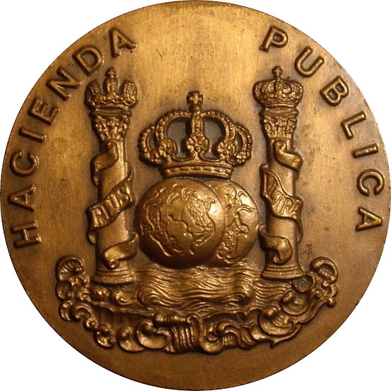 ESPAÑA. MEDALLA F.N.M.T. MINISTERIO DE HACIENDA. 1.984