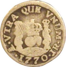 ESPAÑA. CARLOS III. 1/2 REAL 1.770 POTOSÍ