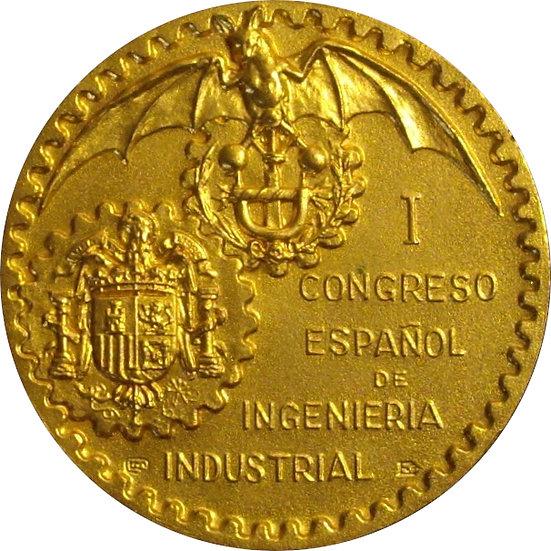 ESPAÑA. MEDALLA I CONGRESO ESPAÑOL INGENIERÍA INDUSTRIAL. 1.977
