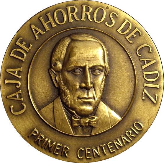 ESPAÑA. MEDALLA CENTENARIO CAJA AHORROS DE CÁDIZ. 1.985